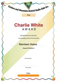 Charlie White Award